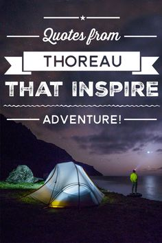 Get inspired to get outside by Henry David Thoreau!