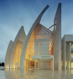 Jubilee Church - Richard Meier; Rome, Italy.  I was lucky enough to tour this when it was under construction in 2003. Gorgeous.