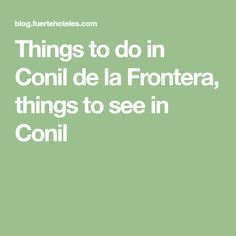 Things to do in Conil de la Frontera, things to see in Conil