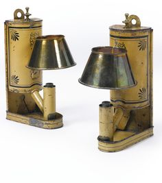 A pair of tôle peinte one-branch wall lights 19th century  Sotheby's