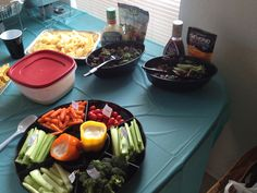 House warming party Salad display
