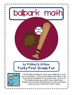 baseball math pack