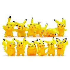 Pokemon 12PC / Set Pikachu-PVC-Spielzeug-Geschenk Figuren Dekoration 3 CM