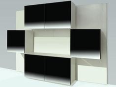 Modular bookcase Acerbis 1970, mod. Life - des. Roberto Monsani