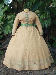 ORIGINAL CIVIL WAR ERA DAY DRESS c.1860s VICTORIAN | Clothing, Shoes & Accessories, Vintage, Women's Vintage Clothing | eBay!