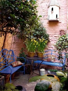 Courtyard landscaping - 95 Small Courtyard Garden with Seating Area Design Ideas – Courtyard landscaping
