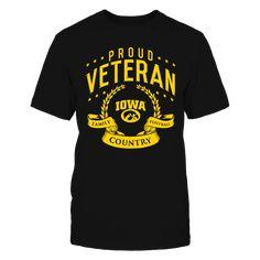 Proud Veteran Iowa Hawkeyes T-Shirt, *Iowa Hawkeyes Official Apparel - Wear Your Pride! *  The Iowa Hawkeyes Collection, OFFICIAL MERCHANDISE  Available Products:          Gildan Unisex T-Shirt - $25.95 District Men's Premium T-Shirt - $27.95 Gildan Women's T-Shirt - $27.95 District Women's Premium T-Shirt - $29.95 Next Level Women's Premium Racerback Tank - $29.95 Gildan Long-Sleeve T-Shirt - $33.95 Gildan Fleece Crew - $39.95 Gildan Unisex Pullover Hoodie - $49.95 Pack of 4 stickers…