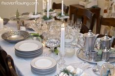 Vintage Chic Tablescape {Tons of Pics} - Its Overflowing