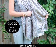 GLOSS! Heb jij al een heerlijk warme sjaal voor koele zomeravonden? Wij hebben veel sjaals in onze OUTLET! Shop deze en meer sjaals nu voor hele fijne prijsjes --> http://www.u-beads.nl/c-2894135/sjaals/  Voor 16.00 uur besteld = dezelfde dag verzonden. Altijd GRATIS verzending!