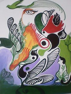 Superando os conflitos, amor na arte acrilic on canvas by Danillo Sena
