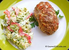 Gourmet Girl Cooks: Brussel Sprout/Red Pepper SLAW and and Mini Mexican Meatloafs. (Note: the recipe for the meatloaf follows the slaw recipe at the bottom)  Both look great!!!
