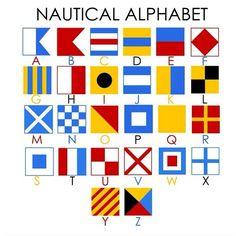 want to have my Nautical Alphabet initials