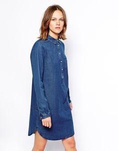 Enlarge Lacoste Long Lined Denim Shirt Dress