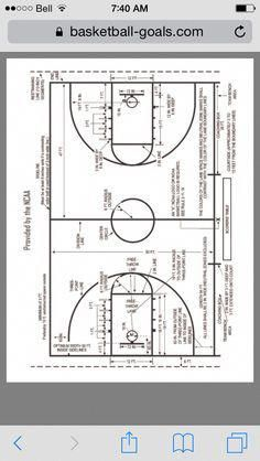 Youth Basketball Court Dimensions Diagram Mansfield Flush Valve So You Can Make Your Own At Home Indoorbasketballhoop