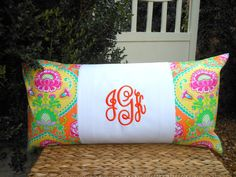 Items similar to Monogram Pillow - Dorm Bedding - College Bedding on Etsy College Bedding, Dorm Bedding, Cute Dorm Ideas, Monogram Pillows, Graduation Photos, Bed Pillows, Unique Jewelry, Handmade Gifts, College Life
