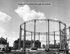 Oval Gas Works, Kennington 1973. Site formerly South London Waterworks. Water taken from Thames & Vauxhall creek