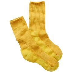 SmartWool Hike Medium Crew Socks ($9.97) ❤ liked on Polyvore featuring intimates, hosiery, socks, citron, crew cut socks, smartwool socks, arch support socks, crew socks and cushioned socks