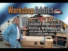 Rolling Woodworkers Bench (part 1) with Festool MFT/1080 table - Finished Walk around