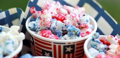 Crafty Sisters: Sweet & Salty Patriotic Popcorn Just add some sugar and food coloring to the Stir crazy
