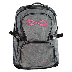 Nfinity Sparkle Backpack - Grey/Pink with FREE Bag Tag! by Cheerleading Company
