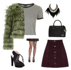 """""""kate 3"""" by sallyloveshoes ❤ liked on Polyvore featuring Topshop, Oasis, Michael Antonio, MICHAEL Michael Kors, Alice + Olivia, Elie Tahari and WithChic"""