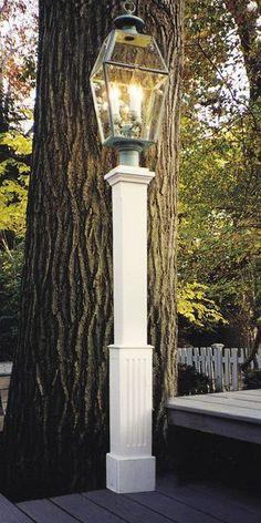 Finial Style Cedar Lantern Post