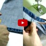¡GENIAL! Cómo conservar el ruedo original de un jean al cortarle el largo Bottle Cutting, Pattern Drafting, Diy Arts And Crafts, Sustainable Design, Interior Design Living Room, Design Trends, Needlework, Sewing Projects, Good Things