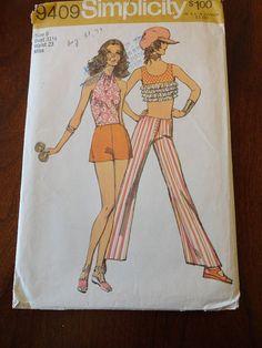 Vintage 70s Simplicity 9409 Misses' HipHugger by glamourstitch, $6.00