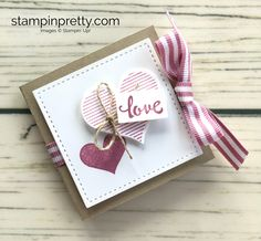 ORDER STAMPIN' UP! Learn how to create this Valentine Ghirardelli treat holder using Heart Happiness stamp set. 1000+ card ideas. Clearance to 70%!