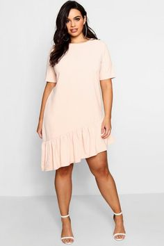Plus Asymmetric Hem Shift Dress