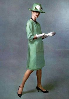 1963 - a lady always wore her gloves out.