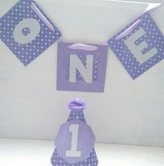 1st birthday highchair banner girl one birthday bunting party hat set purple in Home, Furniture & DIY, Celebrations & Occasions, Party Supplies   eBay!