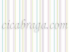 Papel de Parede Vinílico Cool Kids (Americano) - Listras (Rosa/ Azul/ Verde/ Roxo/ Branco) - COLA INCLUSA + CD