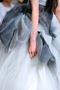 Tulle Chiffon Organza Silk Muslin Sequins Velvet Soft cotton Some lace and a little bit of bling / Marchesa Spring