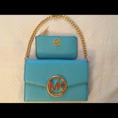 Michael Kors Hudson Large Wallet WOC and Keypouch Authentic Michael Kors WOC and matching Key Pouch this two are perfectly match has a removable strap and this WOC is very versatile. Please let me know if you have any question. Thank you Michael Kors Bags Wallets