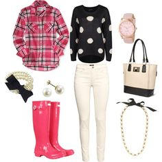 A fashion look from January 2014 featuring Aéropostale tops, Dex sweaters and H&M pants. Browse and shop related looks. Preppy Outfits, Preppy Style, Style Me, Cute Outfits, Pink Style, Sweet Style, Fall Winter Outfits, Autumn Winter Fashion, Spring Fashion