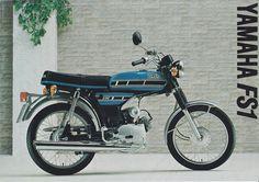 1977 YAMAHA FS1 EA SPACE BLUE 394 BROCHURE