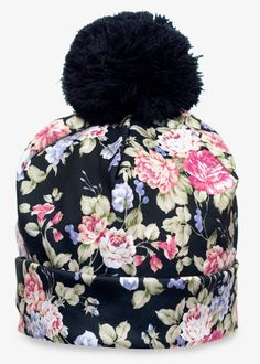 Awesome sublimation printed beanie with pompon. Size: Uni – 21 x 25 cm / x inch – Pompon: 9 x 9 cm / x inch Material: Polyester Get one befo Bennies Hats, Spring Fashion, Autumn Fashion, Snowboarding Outfit, Winter Hats For Women, Black Flowers, Cool Hats, Unisex, Playing Dress Up
