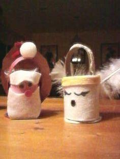 Toilet Tube Treat Basket Ornaments.