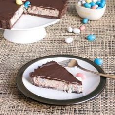 Chocolate Malt Tart - I might try this with Maltesers