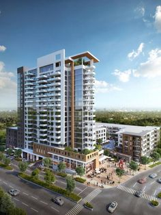 A rendering of Northwood Ravin's planned uptown development at Stonewall Street and South Caldwell Stree.