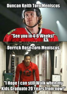 Hockey vs. Basketball. Duncan Keith is an actual cyborg. Won his 3rd Stanley Cup with this injury, didn't even think it was serious until summer camp of next season, then misses like, Ten games. First game back, gets a few shifts in before a goal. I could go on, but I think I've made my point. Chicago Blackhawks' #2 is a badass.