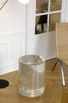 """Bing One"" crystal side table -Martin Szekely"