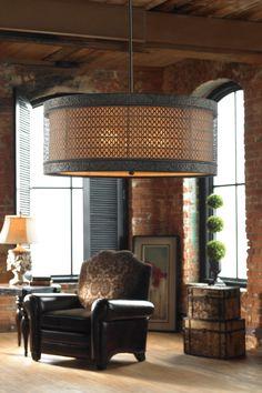 New Orleans Hanging Shade Lamp @scrapwedo