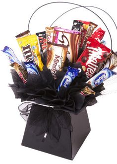 Mars Collection - The Chocolate Florist Food Bouquet, Bouquet Box, Candy Bouquet, Chocolate Hampers, Chocolate Sweets, Chocolate Gifts, Candy Diys, Candy Crafts, Alcohol Bouquet