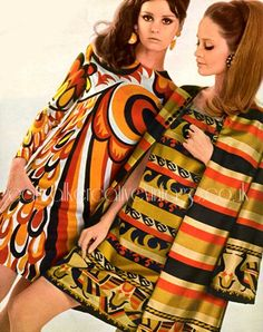 Berkertex dresses and coat c.1968 sixties vintage fashion