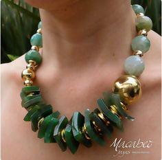 Bead Jewellery, Stone Jewelry, Beaded Jewelry, Jewelery, Handmade Jewelry, Jewelry Necklaces, Beaded Bracelets, Diy Necklace, Gemstone Necklace