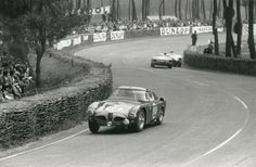 Fangio races the Alfa Romeo Disco Coupe 6C/3000 CM through a curve in the 1953 Le Mans 24 Hour race. He did not finish with a broken piston.