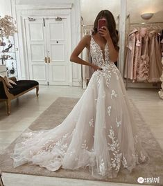 Wedding Dresses Lace 2018 Essense of Australia Wedding Dress. Leaf and floral detail V neck relaxed boho foliage festival bride.Wedding Dresses Lace 2018 Essense of Australia Wedding Dress. Leaf and floral detail V neck relaxed boho foliage festival bride Cute Wedding Dress, Wedding Dress Trends, Best Wedding Dresses, Bridal Dresses, V Neck Wedding Dress, Ivory Lace Wedding Dress, Weeding Dresses, Applique Wedding Dress, Wedding Dresses With Lace