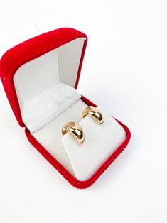 Gold Hoop Earrings Minimalist Earrings Rose Gold Earrings Small Hoop Earrings Huggie Silver Hoop Earrings Gold Hoops Gift For Her 18k Gold Earrings, Silver Hoop Earrings, Unique Gifts For Her, Beautiful Gift Boxes, Minimalist Earrings, Silver Hoops, Earring Set, Accessories, Etsy
